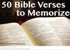 50 Most Important Scripture Bible Verses to Memorize | To Love, Honor and Vacuum