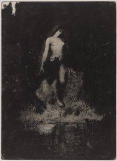 Untitled From Early works - black drawings Œuvre de jeunesse - Dessins noirs Antoine Bourdelle (1861-1929) N.D.