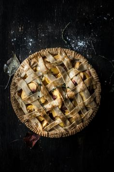 Peach Pie with Lemon and Thyme