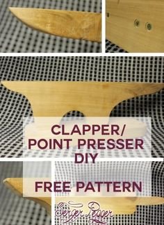 How to make your point presser – tailor's clapper: a FREE pattern for constructing your own - only on SergerPepper.com: