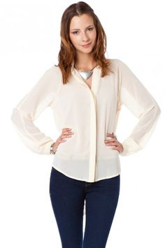 Chimery Blouse in Vanilla / Shopsosie #blouse #ivory #shopsosie