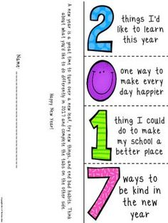 Free New YearS Activity  Great Launching For Point For Paragraph