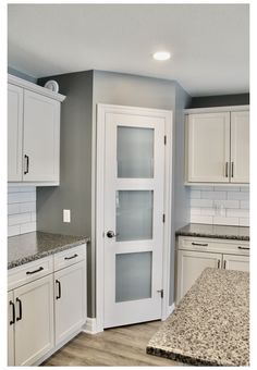 Corner Kitchen Pantry, Kitchen Pantry Doors, Pantry Room, Kitchen Pantry Design, Kitchen Interior, Corner Pantry Cabinet, Frosted Glass Pantry Door, Glass Kitchen Cabinet Doors, Kitchen Cabinetry
