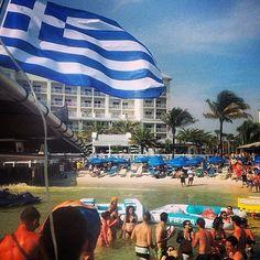 Shepherd's Beach resort turns Blue and white during the UGA weekend