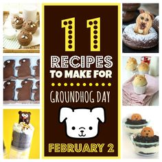 11 Groundhog Day Recipes You Can Make Tonight - Ha Ha! These are sooo cute!