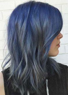 Blue Denim Hair Colors: Smoke in the Water Color Melt Hair Color Pink, Hair Color For Black Hair, Green Hair, Hair Colors, Box Braids Hairstyles, Cool Hairstyles, Men's Hairstyle, Formal Hairstyles, Wedding Hairstyles