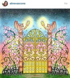 Enchanted forest gargoyle gate