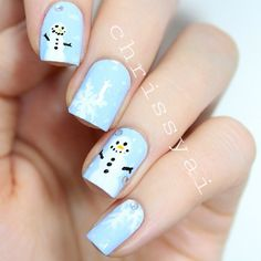 snowman christmas by chrissyai #nail #nails #nailart