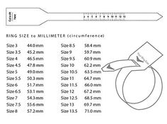 Ring Size Charts