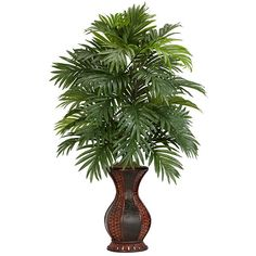 Areca Palm Silk Plants Nearly Natural Indoor Artificial Tropical Palm Tree 6661 Small Artificial Plants, Artificial Plant Wall, Artificial Tree, Fake Plants, Artificial Flowers, Plants Indoor, Indoor Outdoor, Buy Plants, Hanging Plants