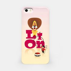 Circus Lion – iPhone Case at Live Heroes by Pia Kolle
