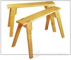 Sawhorses Plans - Workshop Solutions Plans, Tips and Tricks | WoodArchivist.com