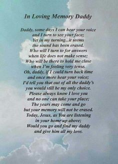Always missing my Dad