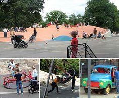 Vasaparkens lekplats in Vasastan /visit Stockholm with chidren