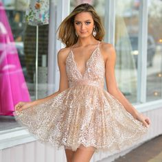 1a92dfa86beb Formalwear Glitter Floral Rose Gold Formal Dress From Cousin Couture. Gold  Formal Dress, Formal