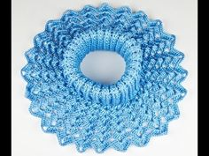 Манишка Ажурная крючком - 2 часть - crochet lace dickey - YouTube