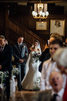 Civil ceremony in our Great Drawing Room | Ramster Hall Winter Wedding Venue in Surrey