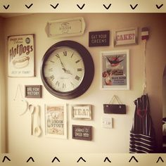 Kitchen wall collage, full of beautiful memories and reasons to be happy.