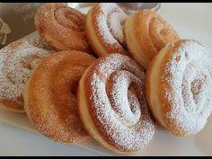 Schnecken - Krapfen/Berliner/ Donuts - YouTube Beignets, Just Cakes, Food Design, Biscotti, Doughnut, Buffet, Food And Drink, Cooking Recipes, Bread