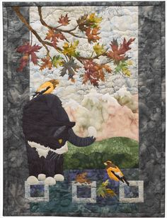 Morning Mews, by McKenna Ryan, at Pine Needles.  HD: You can always spot a McKenna Ryan quilt: intricate, realistic, and gorgeous!!!!!
