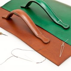 This week just swooshed by! Attaching the to the Leather Hats, Sewing Leather, Leather Handbags, Recycled Leather, Leather Bags Handmade, Leather Diy Crafts, Leather Craft, Leather Bag Design, Leather Wallet Pattern