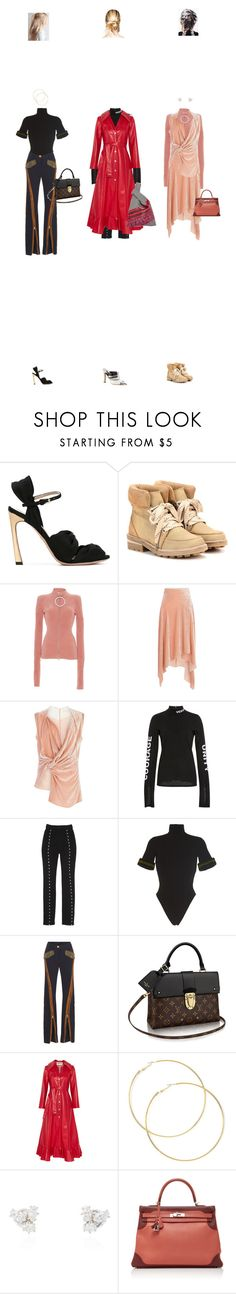 """Apr. 24, 2017"" by chocohearts08 ❤ liked on Polyvore featuring Giambattista Valli, Ganni, Emilio Pucci, Peter Pilotto, Versace, HUISHAN ZHANG, David Koma, A.W.A.K.E., Louis Vuitton and Jade Trau"