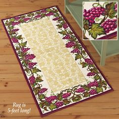 Vineyard Border Vine Rug