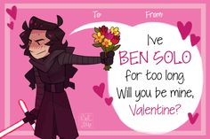 Finished my Valentines! These were a lot of fun to make, though I've been procrastinating on homework to do these~ Feel free to print these out and give 'em to your friends! I'm particularly proud of Poe's pun~ EDIT: I didn't want to put my signature...