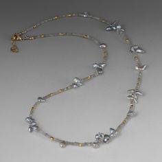 Grey Diamond and Keshi Pearl Necklace,Barbara Heinrich