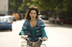 Sally Hawkins as Poppy in the superb Happy go Lucky by Mike Leigh .... I LOVE this film. I LOVE Mike Leigh's work.