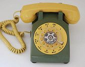Vintage Rotary Dial Phone, Two Tone Custom Rotary Phone, Gift For Dad, Vintage Midcentury Phone, Retro Phone, Home Decor #eveteam#vintage