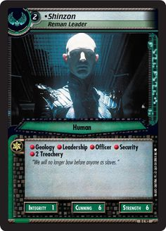 """""""•Shinzon, Reman Leader"""" [8 C 92] from the STAR TREK CUSTOMIZABLE CARD GAME 2nd Edition by DECIPHER 