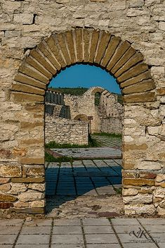 Fortress Hisaria in Lovech. Bulgaria.  thin profile arches at rear deck, look at willow natural arch book for inspiration