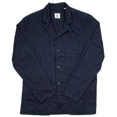 Arpenteur - Villefranche Jacket - Navy Cotton Herringbone