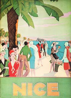 Image of nice - art deco posters, vintage travel posters, travel illustration, Vintage Advertisements, Vintage Ads, French Vintage, Vintage Prints, Poster Ads, Poster Prints, Art Deco Print, Art Deco Posters, Retro Posters
