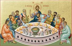 Byzantine Icons, Last Supper, Catholic Art, Orthodox Icons, Christianity, Princess Zelda, Birthday, Fictional Characters, Sf