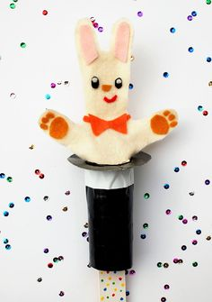Pop-Up Magic Rabbit Puppet