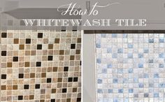 How to Whitewash Your Backsplash!  From ThisModestHome.com