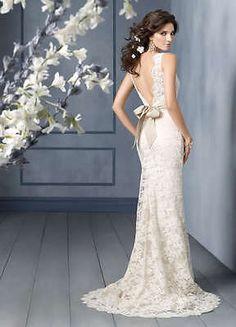 satin ivory wedding dress size 20