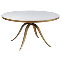 Check out this item at One Kings Lane! Round Crystal Stone Coffee Table, Gold