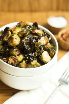 Spicy Honey Mustard Brussel Sprouts- You've never had brussel sprouts quite like these! A fail-proof cooking method is included. You'll get perfectly cooked brussels everytime!