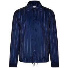 Gant Rugger Pinstripe Coach Jacket (£59) ❤ liked on Polyvore featuring men's fashion, men's clothing, men's outerwear, men's jackets, mens sport jackets and mens sports jackets
