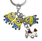 DESPICABLE ME MINIONS DAVE JORGE STEWART UNICONR SET OF 4 CHARMS KEYCHAIN RING