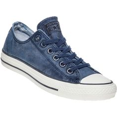 CONVERSE WOMEN'S Midnight Blue Converse Chuck Taylor All-Star Sneaker ($60) ❤ liked on Polyvore featuring shoes, sneakers, blue canvas, converse sneakers, canvas shoes, converse shoes, lace up sneakers and converse trainers