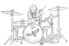 Fun sketch of one of my favorite drummers and band, Taylor Hawkins of the Foo Fighters.