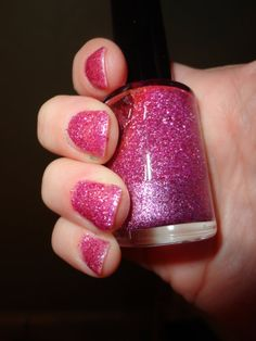 Plumberry nail polish is super glittery and sooo sooo pretty. Mixed with purple and hot pink. Layer it alone or with a coordinating color for maximum sparkles or give it a coat or two for a more sutle appearance.