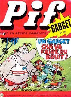 Pif Gadget est un magazine français de bande dessinée pour la jeunesse, créé en février 1969, dont la fréquence de parution était à l'origine hebdomadaire. Il présente la particularité d'inclure un gadget à chaque édition mais aussi celle tout aussi novatrice du récit complet. Il a été un véritable phénomène de presse dans les années 1970. Après une interruption de 1993 à 2004, il paraît à nouveau sous forme de mensuel pour s'achever en novembre 2008........SOURCE WIKIPEDIA.ORG........