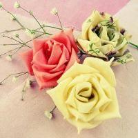 Roses True Love No SEW fabric or ribbon - via @Craftsy