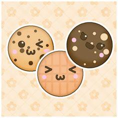 Kawaii Cookies Batch by koriroxx.deviantart.com on @deviantART
