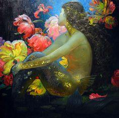 Victor Nizovtsev R Mermaid Fairy, Mermaid Tale, Art Vampire, Vampire Knight, Victor Nizovtsev, Cosplay Steampunk, Mermaids And Mermen, Real Mermaids, Vintage Mermaid